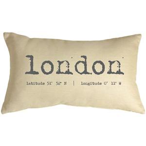 London Coordinates 12x19 Throw Pillow