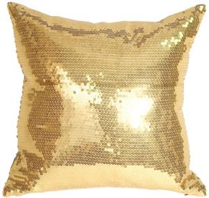 Gold Sequins Accent Pillow