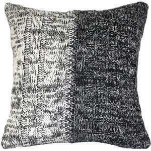 Hygge Chalet Gray Knit Pillow