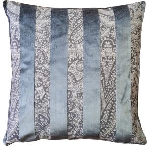 Robert Aluminum Stripe Velvet Pillow 22x22