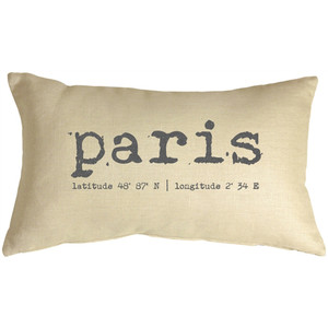 Paris Coordinates 12x19 Throw Pillow