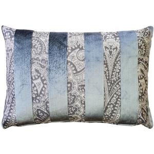 Robert Aluminum Stripe Velvet Pillow 15x22