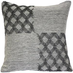 Hygge Morning Gray Knit Pillow
