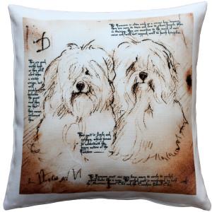 Havanese Duo Dog Pillow