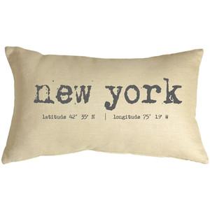 New York Coordinates 12x19 Throw Pillow