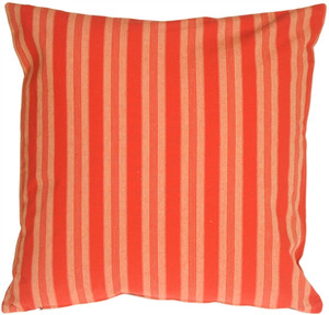 Tuscan Stripes in Red Throw Pillow