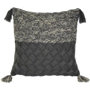Hygge Winter Field Cross Knit Pillow