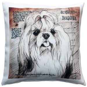 Shih Tzu Top Knot Dog Pillow