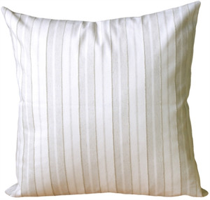 Cream and Neutral Stripes Square Accent Pillow