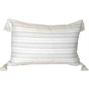 Cream and Neutral Stripes Rectangular Accent Pillow