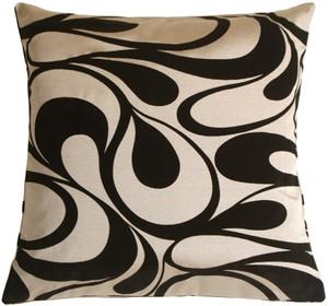 "Dramatic Swirls Silver 19"" Square Decorative Pillow"