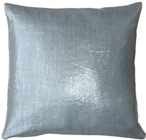 Tuscany Linen Silver Metallic 16x16 Throw Pillow