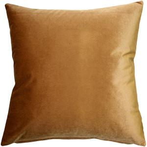 Corona Golden Brown Velvet Pillow 19x19