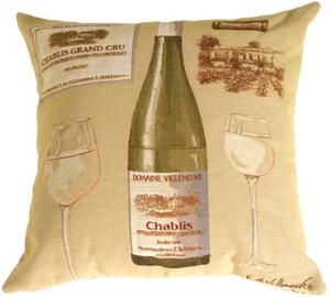 Fabrice de Villeneuve White Wine Throw Pillow