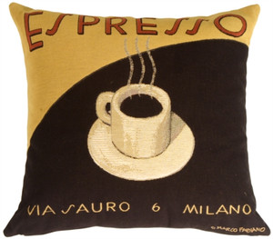 Marco Fabiano Collection Espresso Coffee Throw Pillow