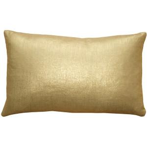 Tuscany Linen Gold Metallic 12x19 Throw Pillow