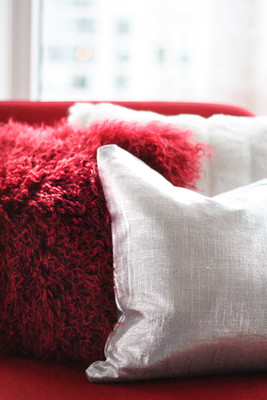 Warm Fluffy Fur Pillows for Winter