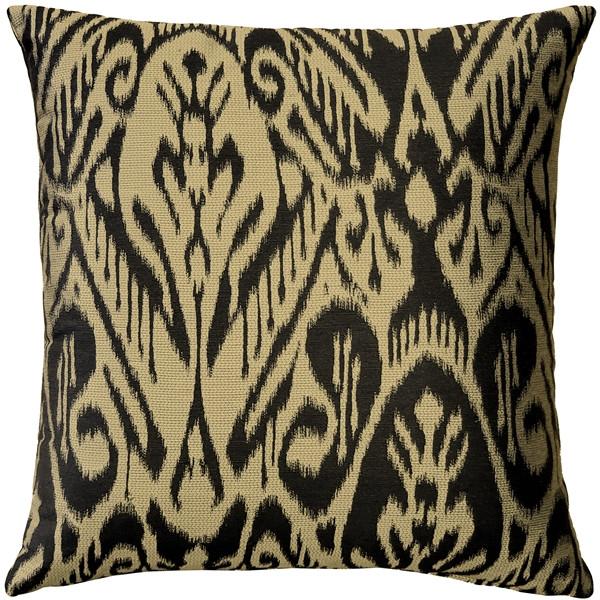 Mallorca Carbon Ikat Throw Pillow 20x20