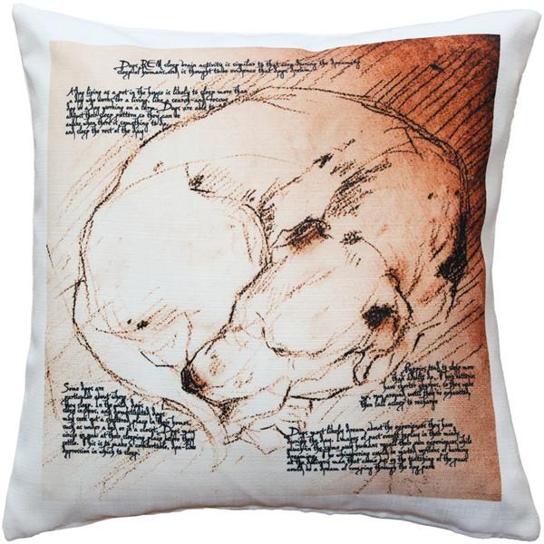 Dreaming Dog Throw Pillow 17x17