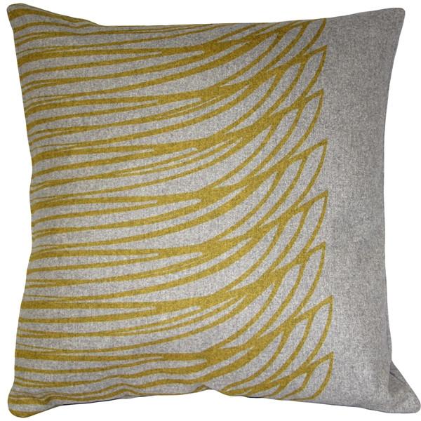Kukamuka Meri Yellow Throw Pillow 19x19