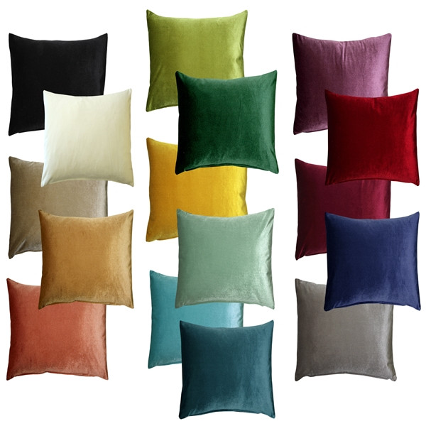 Corona Velvet Throw Pillows 16x16