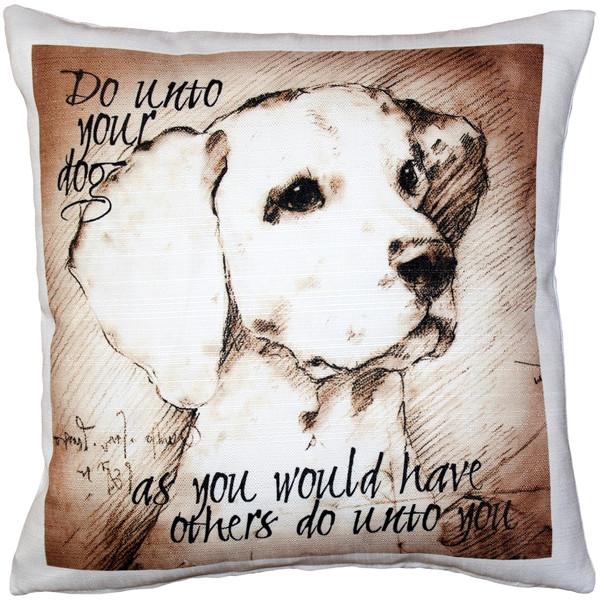 Do Unto Your Dog Throw Pillow