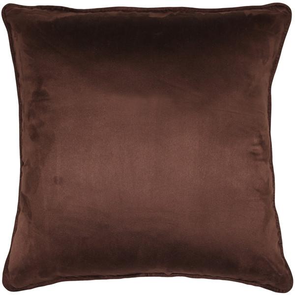 Sedona Microsuede Chocolate Brown Throw Pillow 20x20