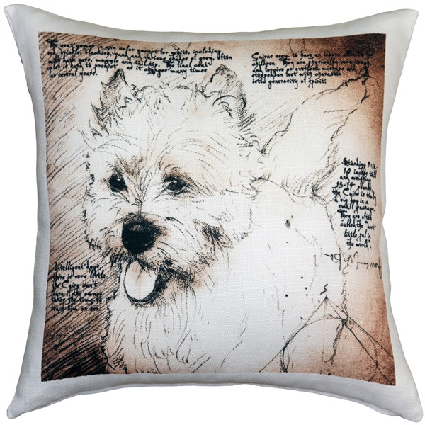 Cairn Terrier 17x17 Dog Pillow