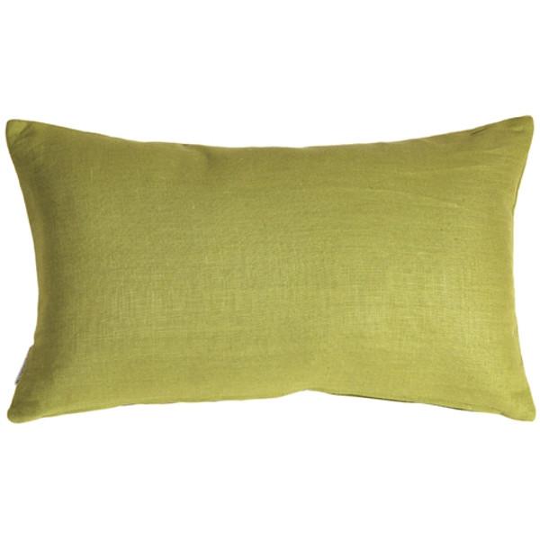 Tuscany Linen Apple Green 12x19 Throw Pillow