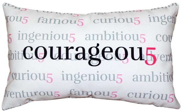 Courageou5 Throw Pillow 12x20