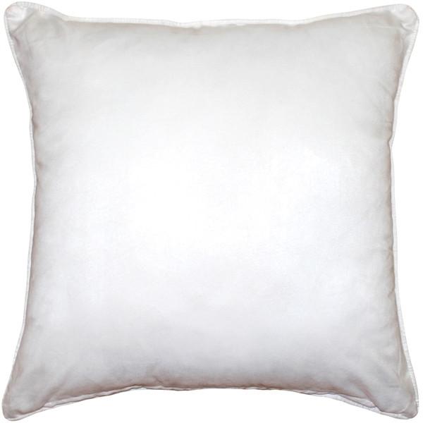 Sedona Microsuede White Throw Pillow 20x20