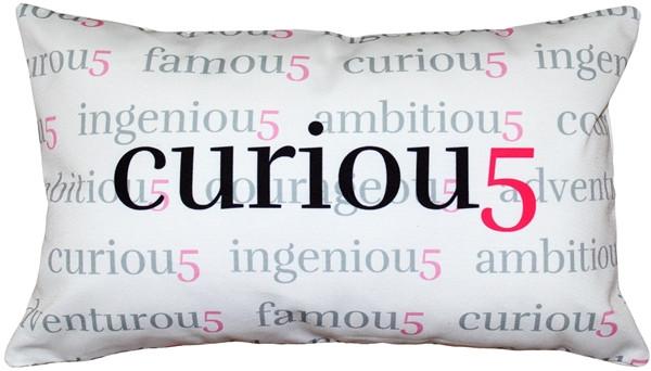 Curiou5 Throw Pillow 12x20