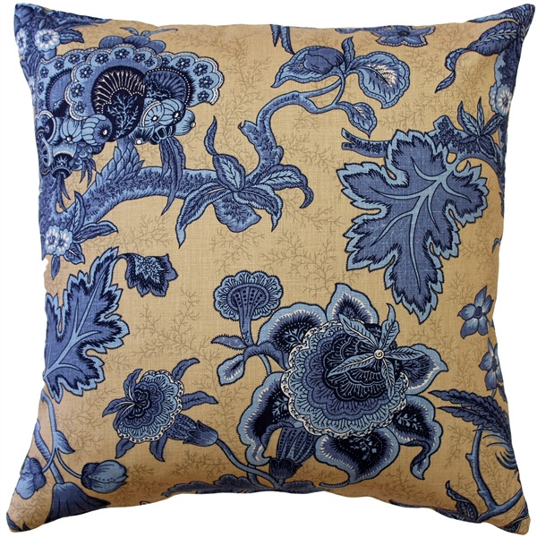 Tuscany Linen Brewood Blue Throw Pillow 20X20