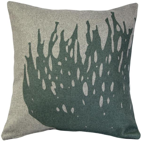 Kukamuka Hay Green Throw Pillow 19x19