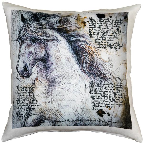 The Love of Horses Stallion 17x17 Throw Pillow