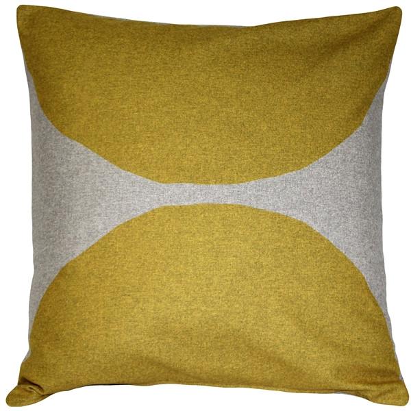 Kukamuka Kivi Yellow Throw Pillow 22x22