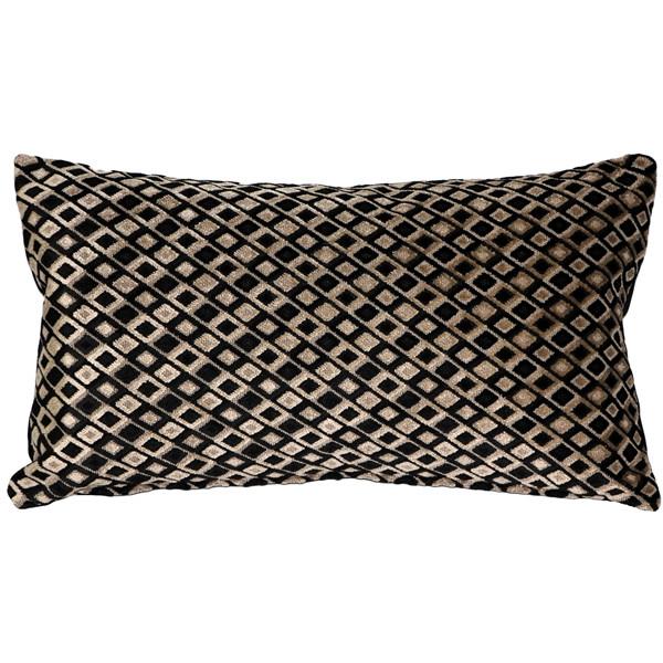 Jager Black Diamond Throw Pillow 12x20
