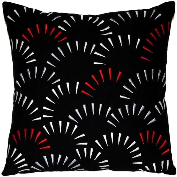 Celebrate Embroidered Cotton Throw Pillow 16x16