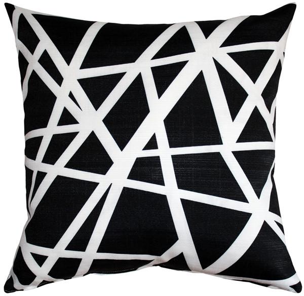 Birds Nest Black Throw Pillow 20X20