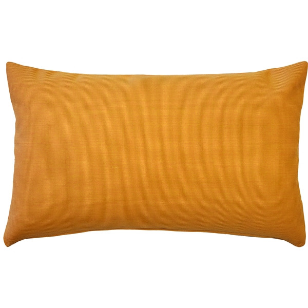 Sunbrella Tangerine Orange 12x19 Outdoor Pillow