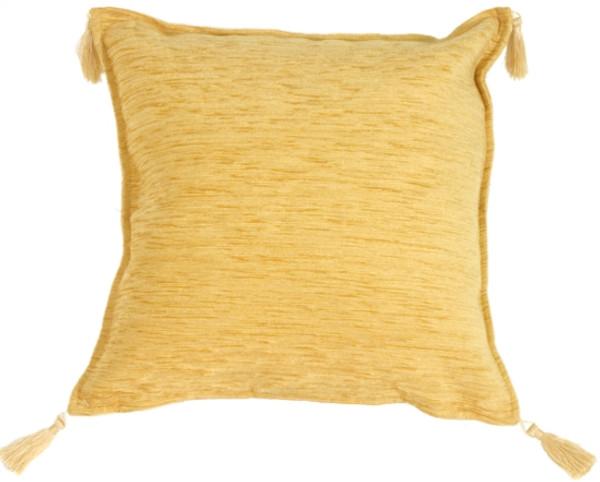 Golden Decorative Throw Pillow
