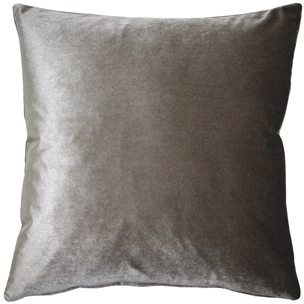 Corona Silver Velvet Pillow 16x16