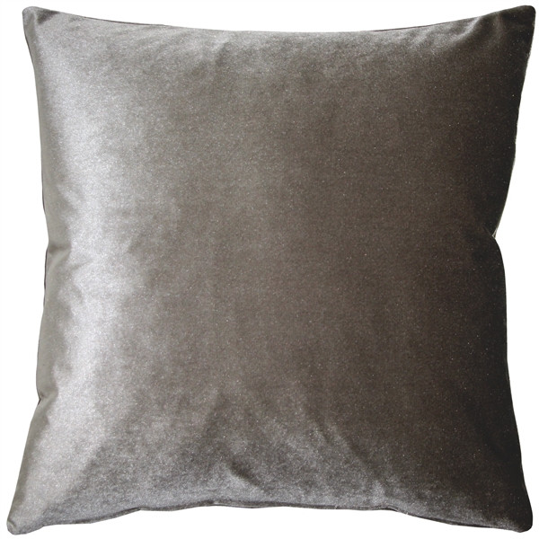 Corona Silver Velvet Pillow 19x19