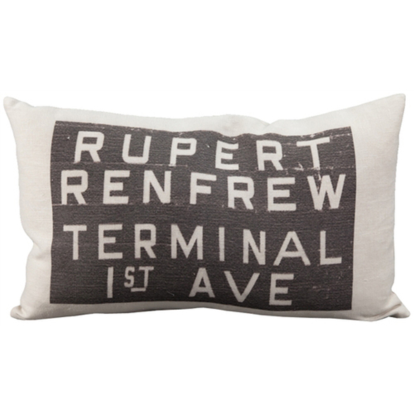 Rupert Bus Scroll Throw Pillow