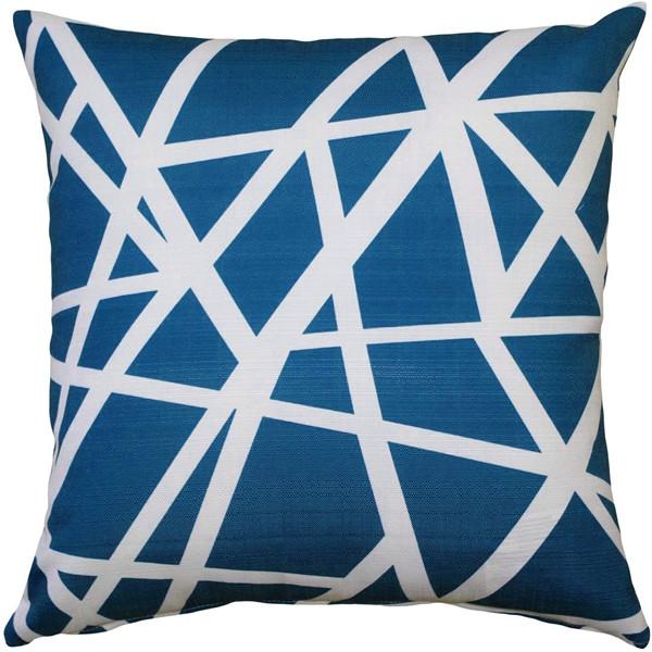 Birds Nest Blue Throw Pillow 20X20