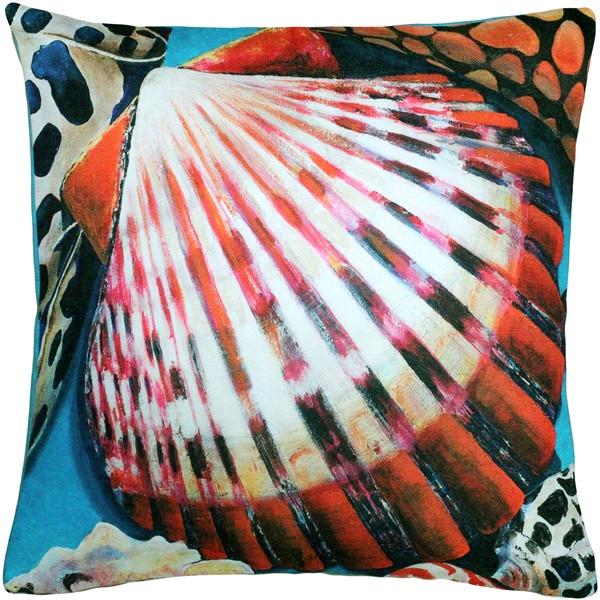Newport Beach Bay Scallop Mix Throw Pillow 20x20
