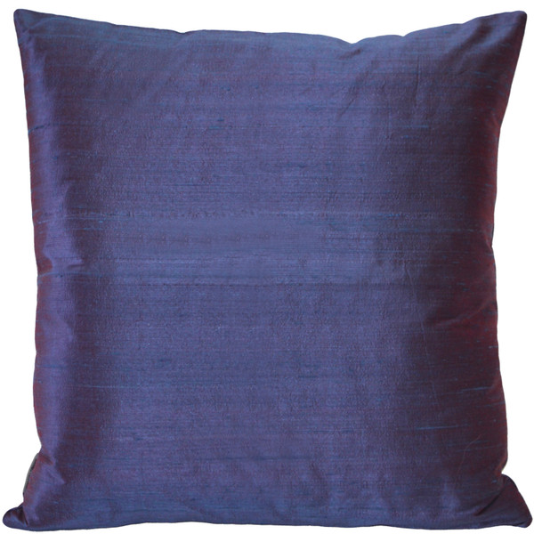 Sankara Purple Silk Throw Pillow 20x20