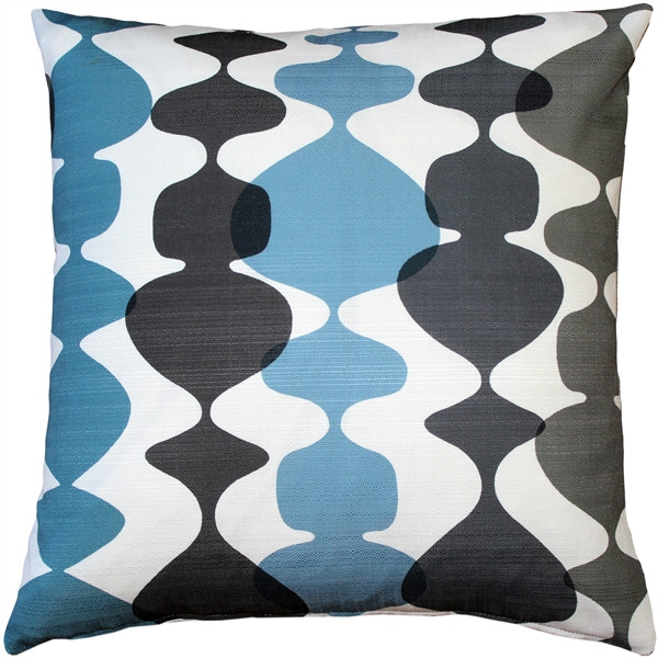 Lava Lamp Charcoal Cream 19x19 Throw Pillow