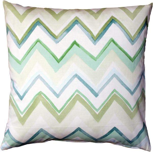 Pacifico Stripes Green Throw Pillow 20X20