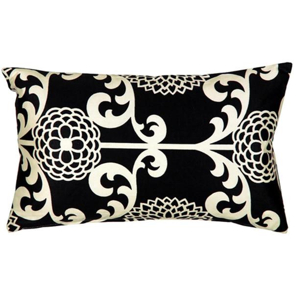 Waverly Fun Floret Licorice 12x20 Throw Pillow